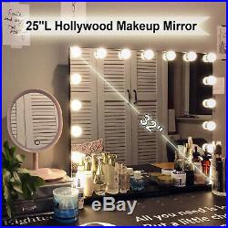 25L Hollywood Makeup Mirror with LED Light Stage Large Beauty Mirror Salon Vanity