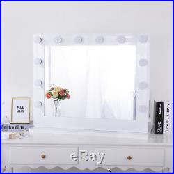 Chende Hollywood Makeup Vanity Mirror Lighted Mirror Dimmer White+FREE LED Bulbs