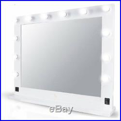Chende White Hollywood Makeup Vanity Mirror with Light Stage Large Beauty VP
