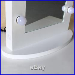 Chende White Hollywood Makeup Vanity Mirror with Lights Mirror Wall Mounted