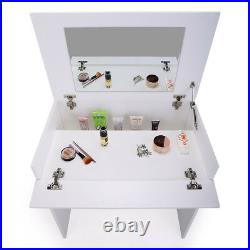 Dressing table withFlip-Up Mirror and Storage Chic Dresser Makeup Vanity Table