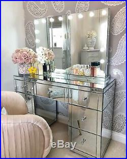 Electric Hollywood Vanity Makeup Light up Mirror Dimmable LED Bulbs Professional