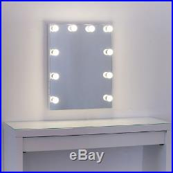 Frameless Beauty Hollywood Lighted Vanity Makeup Mirror with Dimmer LED Bulb