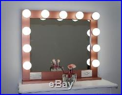HOLLYWOOD STYLE LIGHTED VANITY MAKEUP MIRROR, 32 x 28