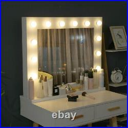 Hollywood Style LED Vanity Mirror Lights Kit for Makeup Dressing With 12 Bulbs