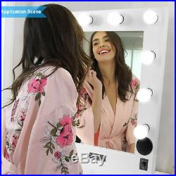 Hollywood Vanity Makeup Mirror with Led Light Dimmer USB SD Slot Bluetooth Speaker