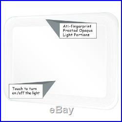 Home Bathroom Vanity LED Light Bulb Wall-Mount Makeup Mirror with Touch Button
