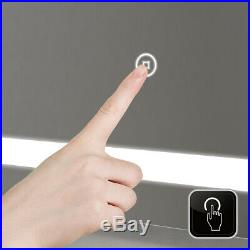 LED Bathroom Lighted Mirror Vanity Wall Makeup with Touch Button Bath 48x24