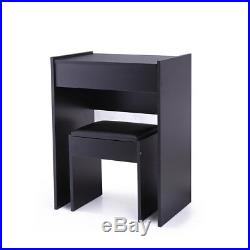 Makeup Desk Vanity Table Set Jewelry Storage with Dressing Mirror and Stool New