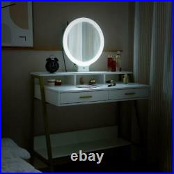 Makeup Dressing Table Vanity Set With Mirror 11 Led Lights for Woman Gift
