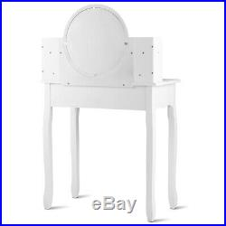 Makeup Vanity Table Set WithDrawers Oval Mirror Girls Dressing Table for Kids Gift
