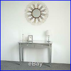 Mirrored Makeup Table Dressing Desk Vanity For Women With 2 Drawers Bedroom