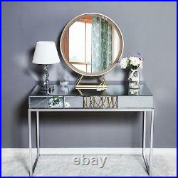Mirrored Vanity Makeup Dressing Table Console Table Modern Accent Side Stand