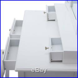 New Dressing Makeup Vanity Set Table with Drawers, Stool and Mirror