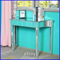 New Modern Mirrored Console Table Makeup Vanity Desk with Storage