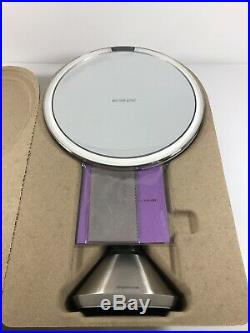 Simplehuman ST3026 8 Rechargeable Lighted Touch Sensor Vanity Mirror OPEN BOX