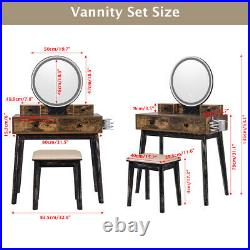 Vanity Makeup Dressing Table Desk 3 Color Touch Screen Dimmable Mirror IK2009