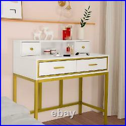Vanity Set Makeup Dressing Table with 10 LED Lights with Drawers and Mirror