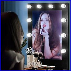 Vanity Set with Lighted Mirror Makeup Dressing Table+11 LED Light+ With Drawer US