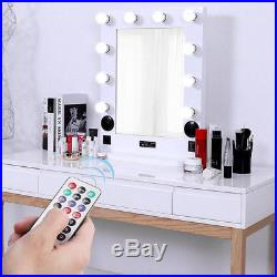 White/Black Large Hollywood Makeup Vanity Mirror with Light or Bluetooth Speaker