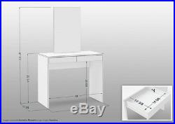White Vanity Makeup Dressing Table with Mirror