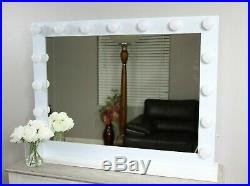 XLARGE Hollywood Vanity Mirror with LED Lights, Dimmer and USB